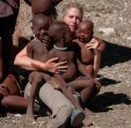 Tracy with OVA Himba Babies